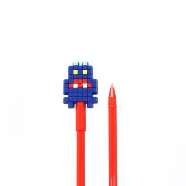 Pluma .7MM Tinta Negra Robot Azul