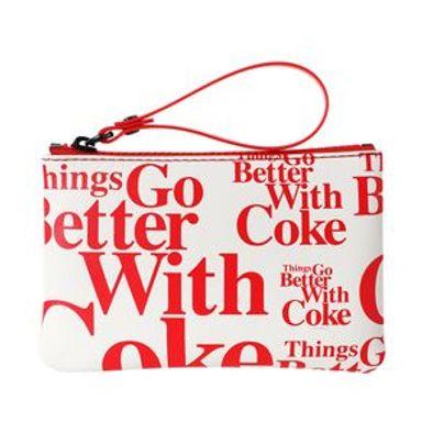 Monedero Con Asa Coca Cola Blanco 13X1X8CM