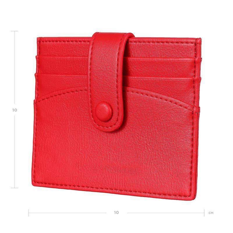 Tarjetero-Para-Mujer-Sencillo-Con-Broche-Rojo-10-8X9-7X2CM-4-7921