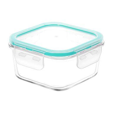 Contenedor Para Alimentos Vidrio Azul 400 ml