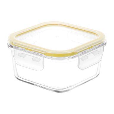 Contenedor Para Alimentos Vidrio Amarillo 400 ml