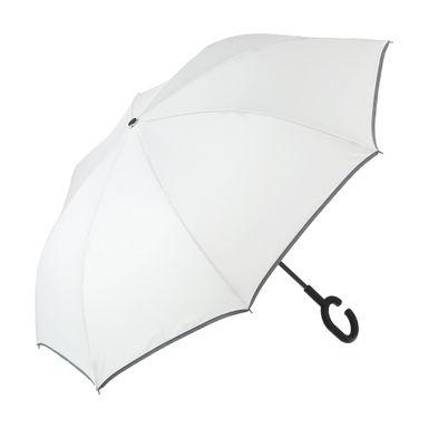 Paraguas Plegable Ejecutivo De Mango Largo Blanco 60 cm