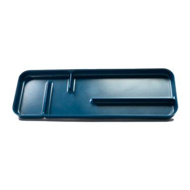 Organizador Cubiertos 4 Compartimentos, Rectangular Azul