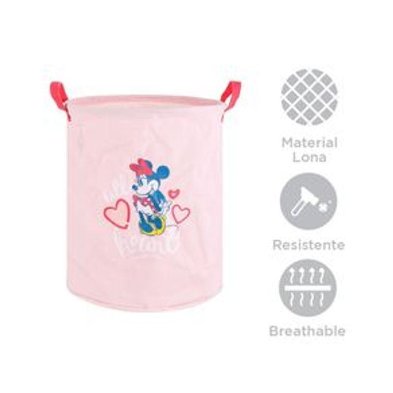 Organizador-Disney-Minnie-Mouse-Cil-ndrico-Tela-Rosa-33X40X1cm-3-6249