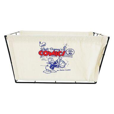 Organizador Disney Pato Donald Tipo Cesta Acero Blanco 20X15X30cm