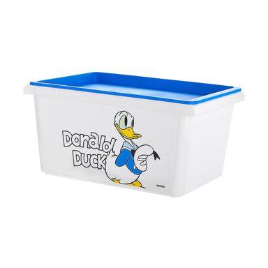 Organizador Disney Pato Donald Con Tapa Plástico Blanco 27X18.5X14cm