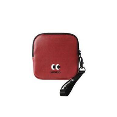 Monedero Cuadrado Con Asa Cara Feliz Rojo 12x12x2.5cm