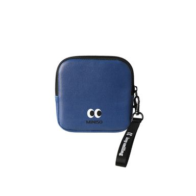 Monedero Cuadrado Con Asa Cara Feliz Azul 12x12x2.5cm