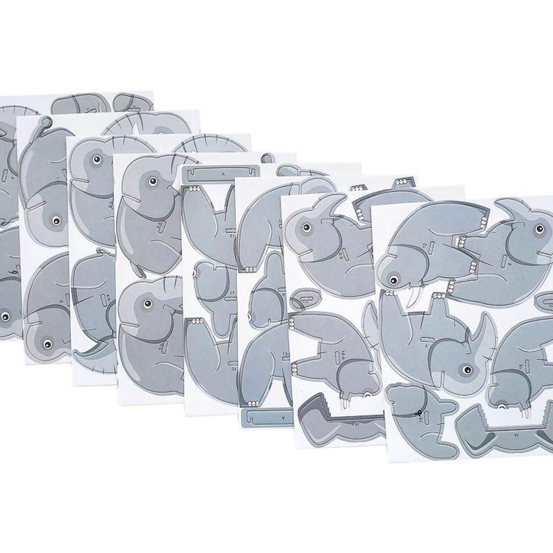 Rompecabezas-3D-Mini-Elefante-Cartulina-Gris-4-5X5-1X6-3cm-5-8077