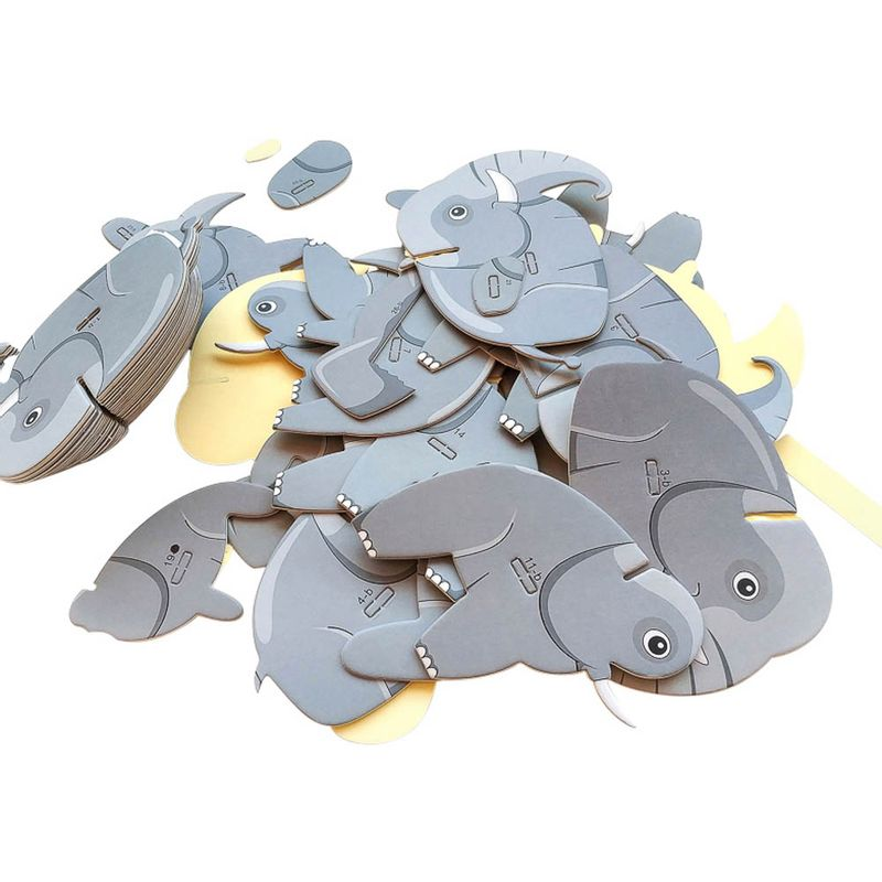 Rompecabezas-3D-Mini-Elefante-Cartulina-Gris-4-5X5-1X6-3cm-6-8077