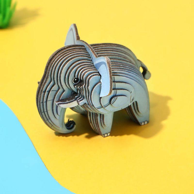 Rompecabezas-3D-Mini-Elefante-Cartulina-Gris-4-5X5-1X6-3cm-7-8077