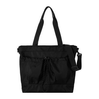 Bolsa Tote Con Doble Bolsillo Negro 43.6X35.2X5.4CM