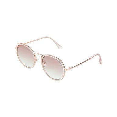 Lentes De Sol Polarizado Para Mujer Circular Rosa