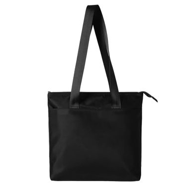 Bolsa Tote Con Cierre Negro 35X32 cm