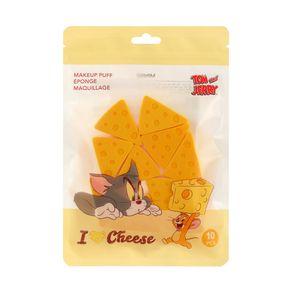 Paquete De Esponjas Triangular Tom & Jerry Amarillo 10 Piezas
