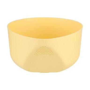 Colador Sencillo Plástico Amarillo 22.3X19.7X10.1cm