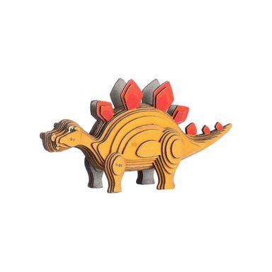 Rompecabezas 3D Mini Estegosaurio Cartulina Amarillo 9.2X5.8X3.3cm