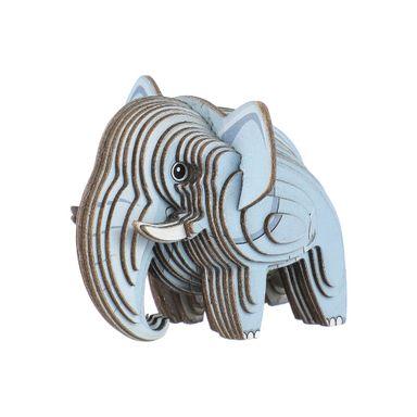 Rompecabezas 3D Mini Elefante Cartulina Gris 4.5X5.1X6.3cm
