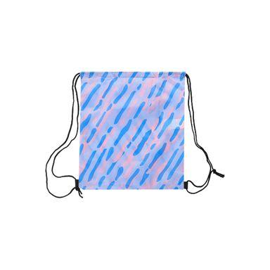 Bolsa De Viaje Plegable Con Cordón Plástico Azul 34X38cm