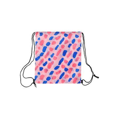 Bolsa De Viaje Plegable Con Cordón Plástico Rosa 34X38cm