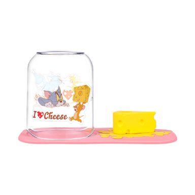 Portacepillos De Dientes Con Base Y Porta Taza Tom Y Jerry Tom & Jerry Plástico Rosa
