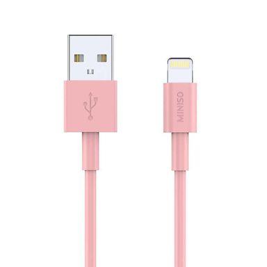 Cable De Carga Rápida USB a Lightning Rosa 1m