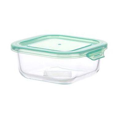 Contenedor De Alimentos Con Tapa Vidrio borosilicatado Verde 530 ml