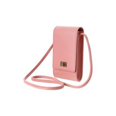 Bolsa Para Celular Con Hebilla Rosa 9.5X4X17.5CM