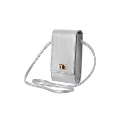 Bolsa Para Celular Con Hebilla Gris 9.5X4X17.5CM
