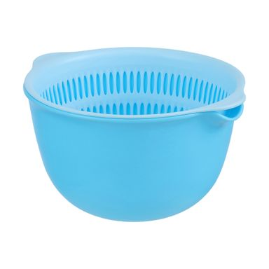Colador Doble Plástico Azul 22X20X12CM 2 Piezas