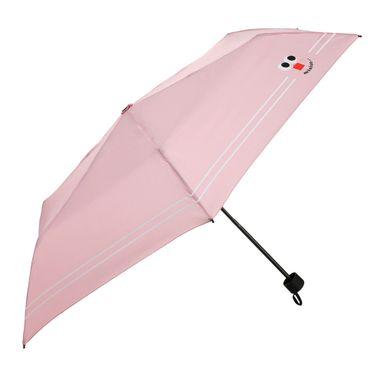 Paraguas Plegable Cara Sonriente Rosa 24 CM