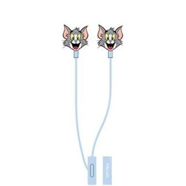 Audífonos De Cable Con Felpa Mod F056 Tom & Jerry Tom Azul