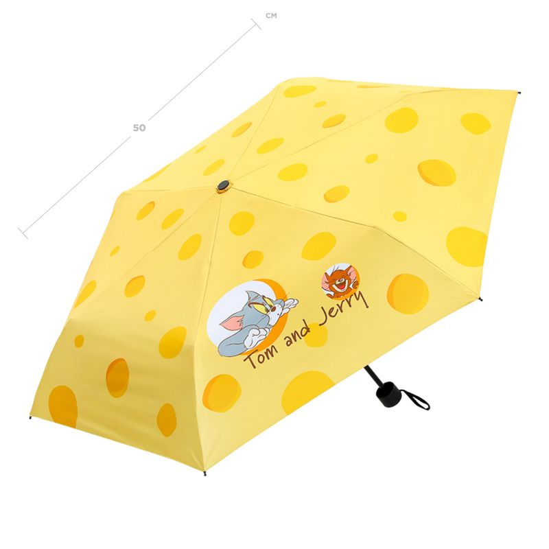 Paraguas-Plegable-UV-Tom-Jerry-Tom-Jerry-Amarillo-24CM-4-8358
