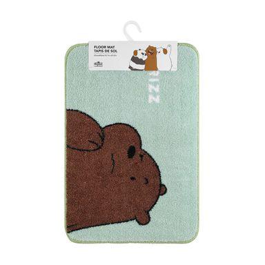 Tapete Decorativo We Bare Bears Pardo Poliéster Verde 60X40CM