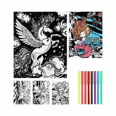 Set Para Coloread Colorín Cuento de Hadas 13 Piezas