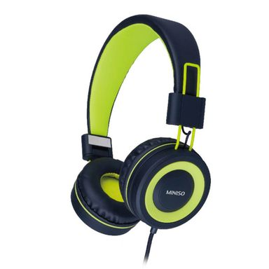 Audífonos De Diadema De Cable Plegables Verde/Negro