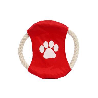 Disco Volador Para Mascota Cuerda Rojo