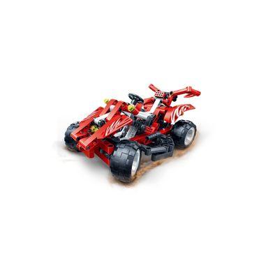 Bloques De Construcción Carro De Carreras Rojo 11X18CM 250 Piezas