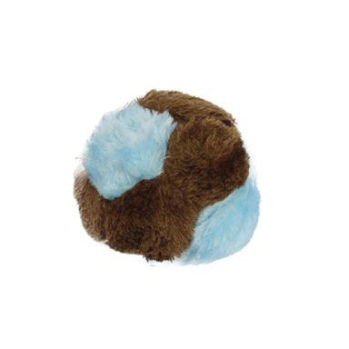 Peluche Redondo Para Mascota Azul/Café