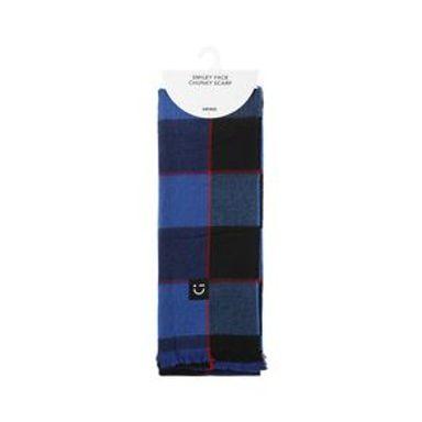 Bufanda Para Mujer Cuadros Azul 184X64CM