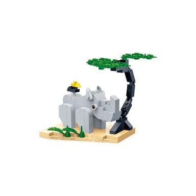 Bloques De Construcción Rinoceronte 11.5X10X11CM 116 Piezas