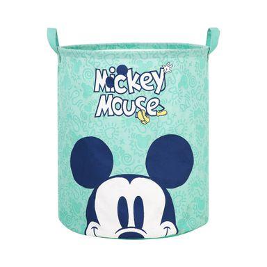 Bote De Almacenamiento Disney Mickey Mouse Tela Verde 36.3X34.3X12CM