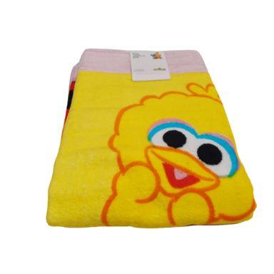 Toalla De Baño Sesame Street Abelardo Suave Al Tacto Amarillo 31.2X22.3X4.6cm