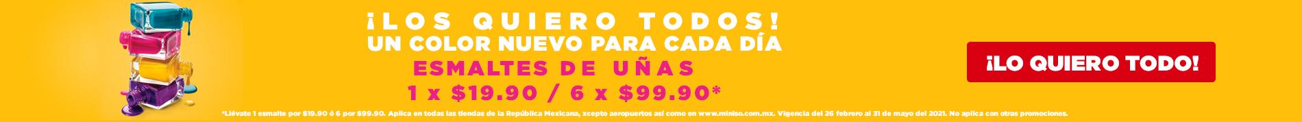 Esmaltes de Uñas: 1 x $19.9 0 / 6 X $99.90